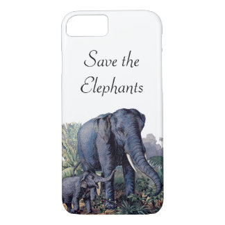 Save the Elephants iPhone 7 Case