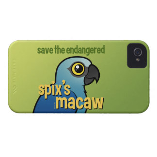 Save the Endangered Spix's Macaw iPhone 4 Covers