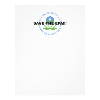 Save the EPA Letterhead