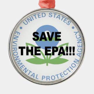 Save the EPA Metal Ornament
