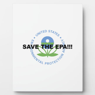 Save the EPA Plaque
