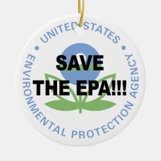 Save the EPA Round Ceramic Ornament