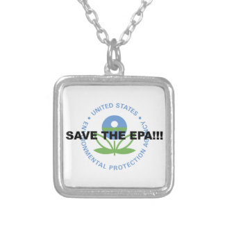 Save the EPA Silver Plated Necklace