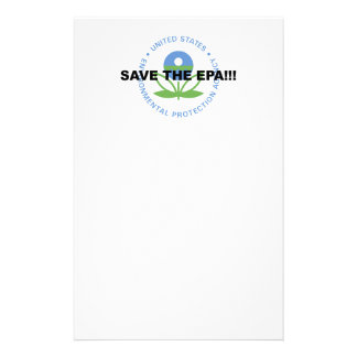 Save the EPA Stationery