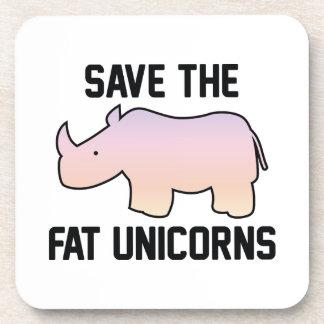 Save The Fat Unicorns Beverage Coasters