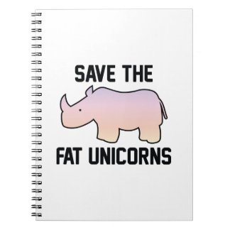 Save The Fat Unicorns Notebooks
