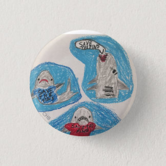 Save the Fins 1 Inch Round Button