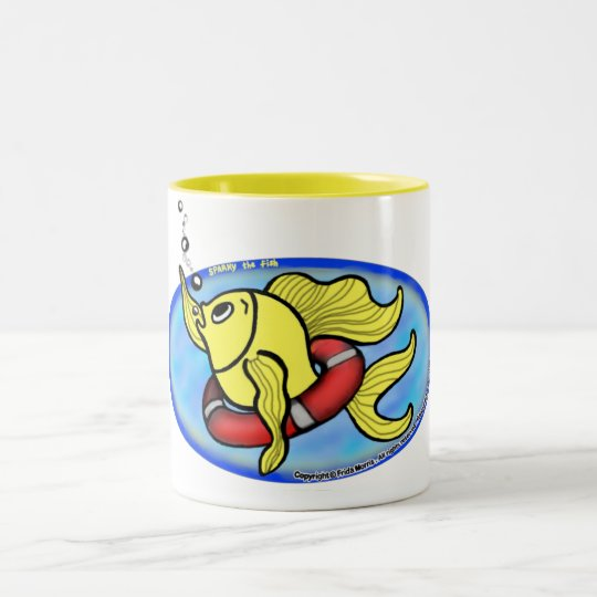 Save The Fish Two-Tone Coffee Mug