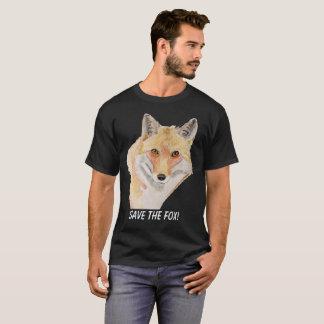 Save the fox t-shirt dark