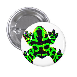 save the frogs 1 inch round button