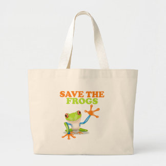 Save the Frogs Large Tote Bag