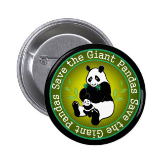 Save the Giant Pandas 2 Inch Round Button