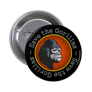 Save the Gorillas Pin