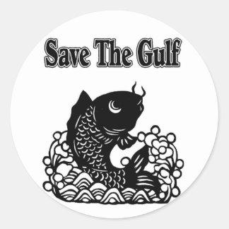 save the gulf round sticker