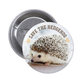 Save The Hedgehog 2 Inch Round Button