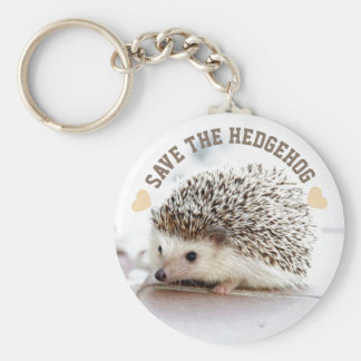 Save The Hedgehog Basic Round Button Keychain