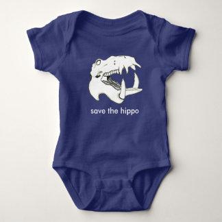 Save the Hippo Baby Bodysuit