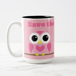 Save the Hooters!  Breast Cancer Awareness Two-Tone Coffee Mug