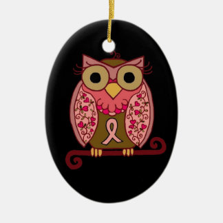 Save The Hooters Owl Ceramic Oval Ornament