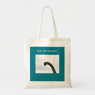 Save the Humans Dinosaur Tote Bag - FUN