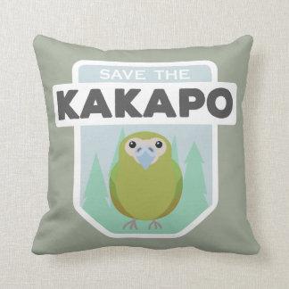 Save the kakapo home throw pillow