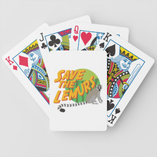 Save the Lemurs Bicycle Playing Cards