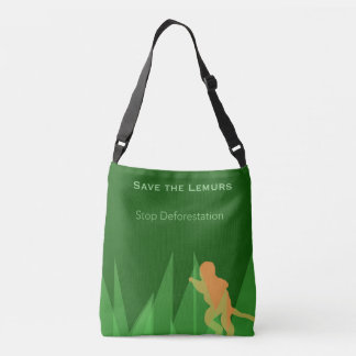 Save the Lemurs Crossbody Bag