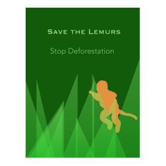 Save the Lemurs Postcard