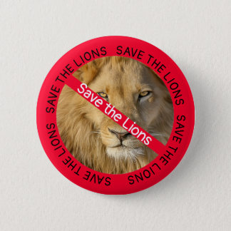Save the Lions,  Animals Causes Buttons