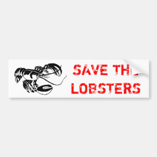 SAVE THE LOBSTERS BUMPER STICKER