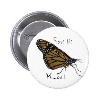 Save the Monarch butterfly button