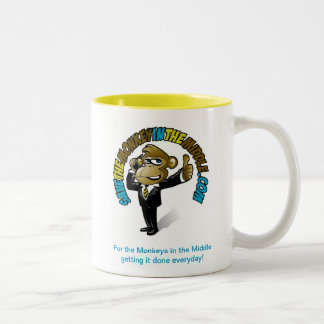 Save the Monkey in the Middle Yellow Mug