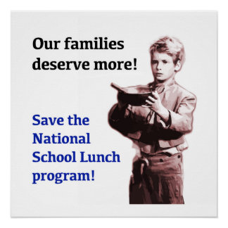Save the National School Lunch Program Poster