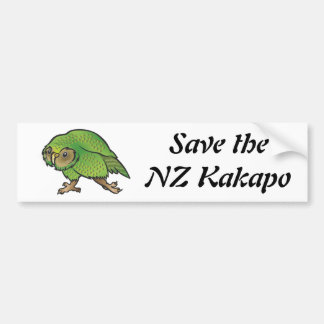 Save the NZ Kakapo – Bumper Sticker