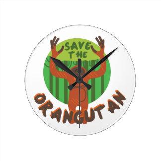 Save the Orangutan Wallclock