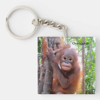 Save the Orangutans  Baby Uttuh Key Chain