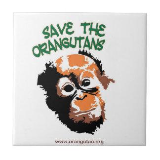 Save the Orangutans Custom Trivet Ceramic Tiles