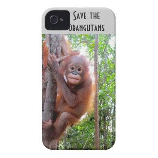 Save the Orangutans orphan Uttuh iPhone 4 Case-Mate Case