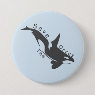 Save the Orcas 3 Inch Round Button