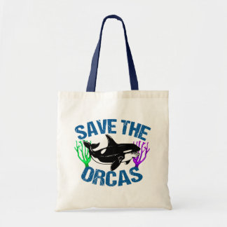 Save the Orcas Cute Tote Bag