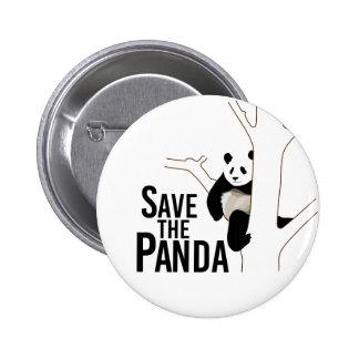 Save the Panda Bear 2 Inch Round Button