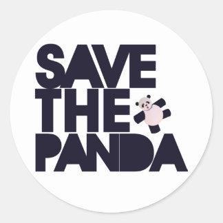 Save the Panda Bear Classic Round Sticker