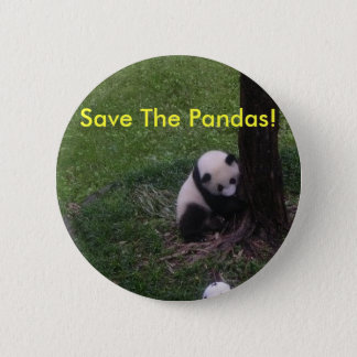Save The Pandas! 2 Inch Round Button