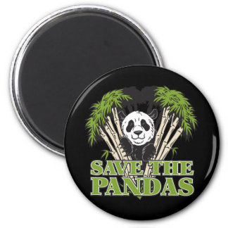 Save the Pandas 2 Inch Round Magnet