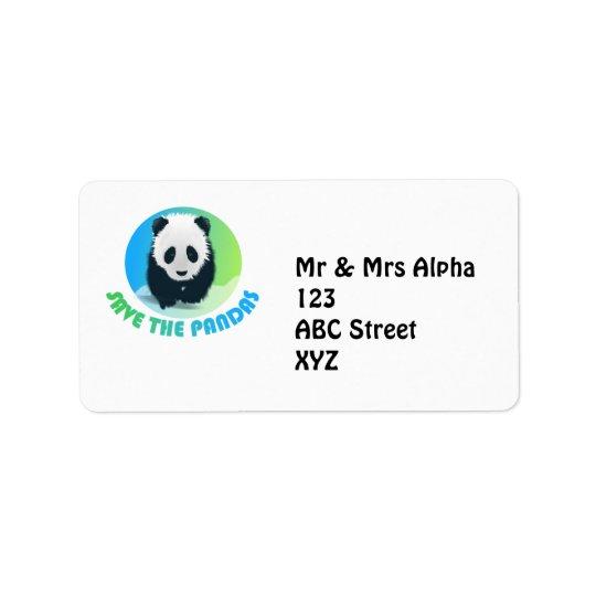 Save the Pandas Avery Label
