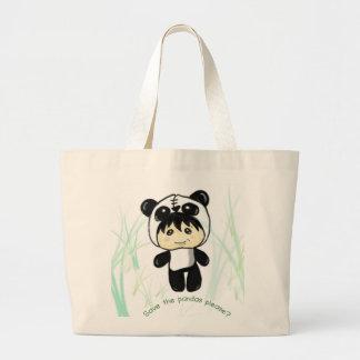 Save the Pandas please? Large Tote Bag