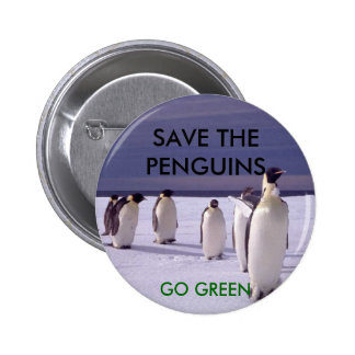 SAVE THE PENGUINS 2 INCH ROUND BUTTON