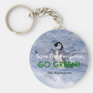 Save The Penguins Keychain