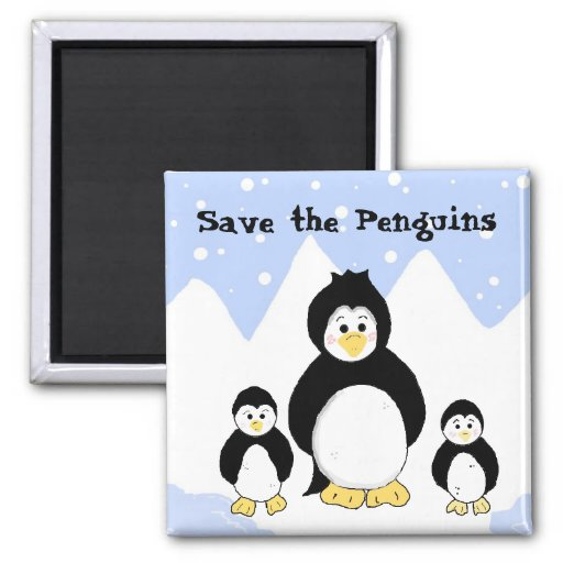 Save the Penguins Magnets