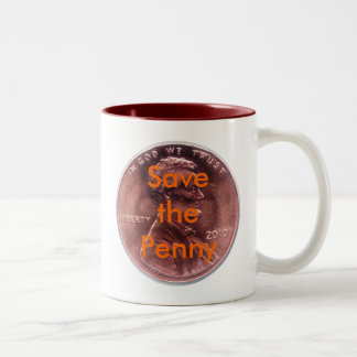 Save the Penny Two-Tone Coffee Mug